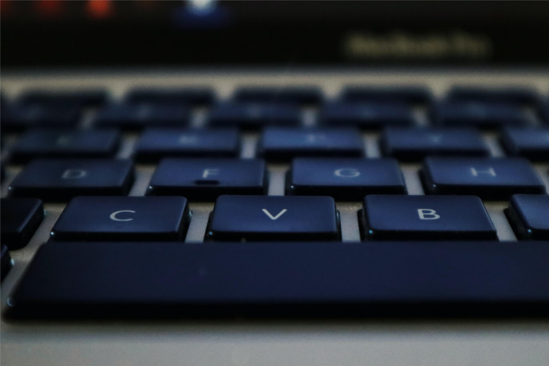 keyboard focused on V