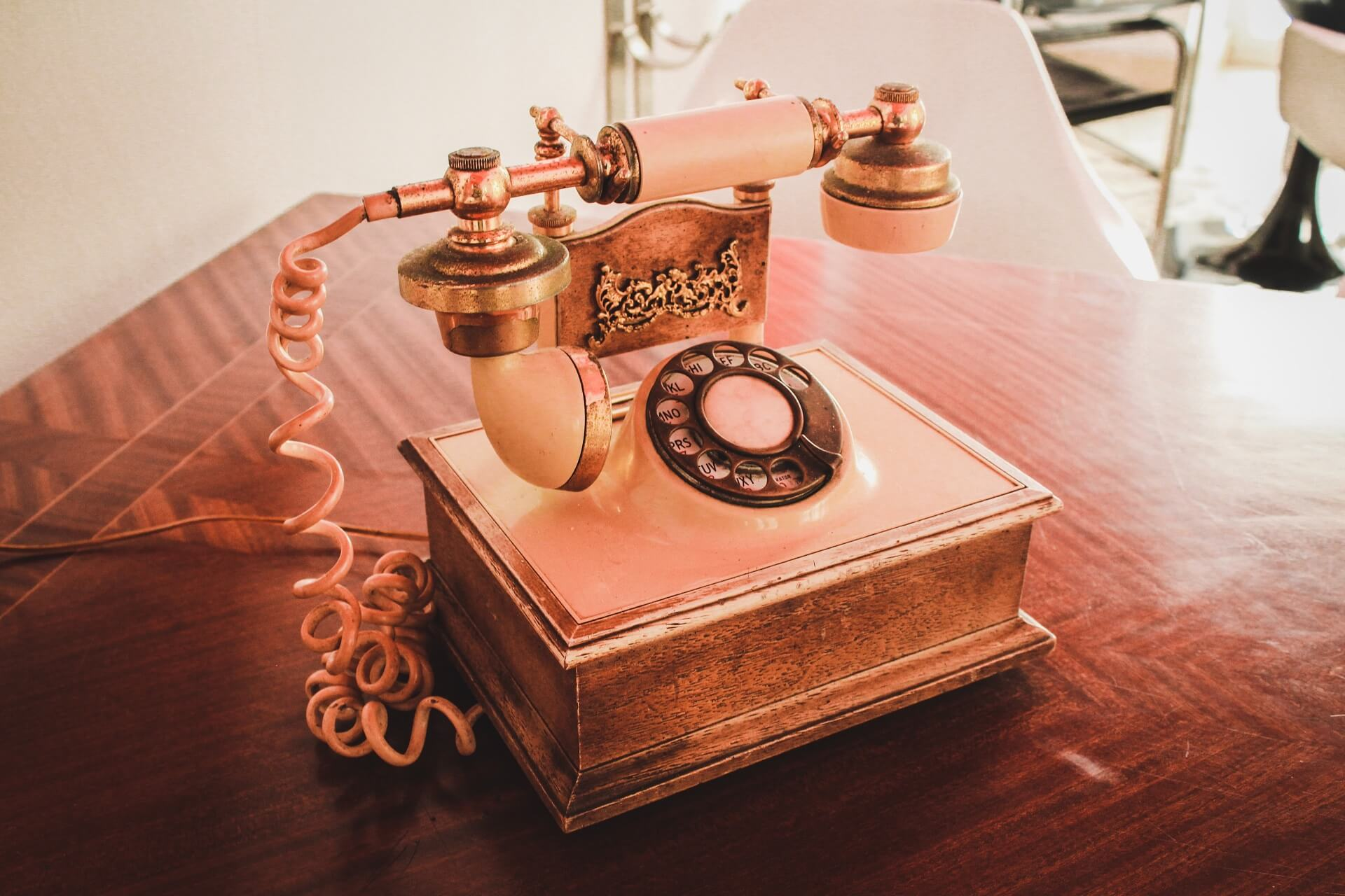 Internal communication old fashioned telephone